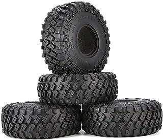 AUSTARHOBBY AX-7020 4Pcs 1.9 Inch 122mm 1/10 Rock Crawler Rubber Tires for D90 TRX4 SCX10 AXIAL TF2 RC Car Accessories - B...