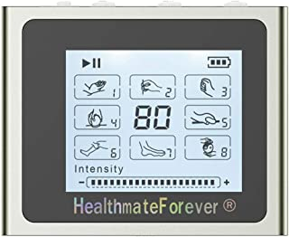 HealthmateForever 8 modos mejores salidas Dual portátil dispositivo de electroterapia, unidad masajeador de pulso electrónico para controlar el dolor electroterapia