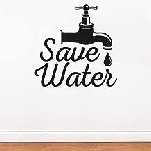 Rawpockets 'Save Water' Wall Sticker (PVC Vinyl, 0.99 cm x 50 cm x 50 cm)