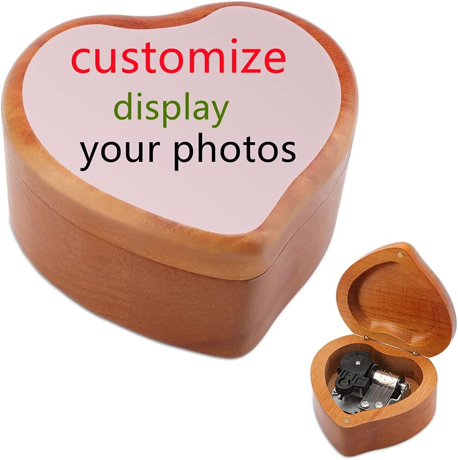 SUNYI Very popular Max 50% OFF Personalized Photo Custom Vintage Person Music Box Wooden