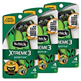 Schick Xtreme 3 Senstive Skin Disposable Razors for Men With New Heavyweight Handle, 4count(Pack of 3)