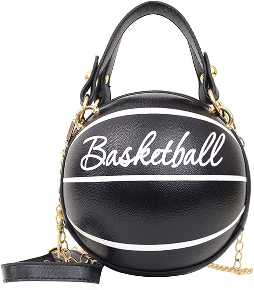 Excellence Women's Basketball Shaped Mini Shoulder Chain Fixed price for sale Bag Cute Metallic