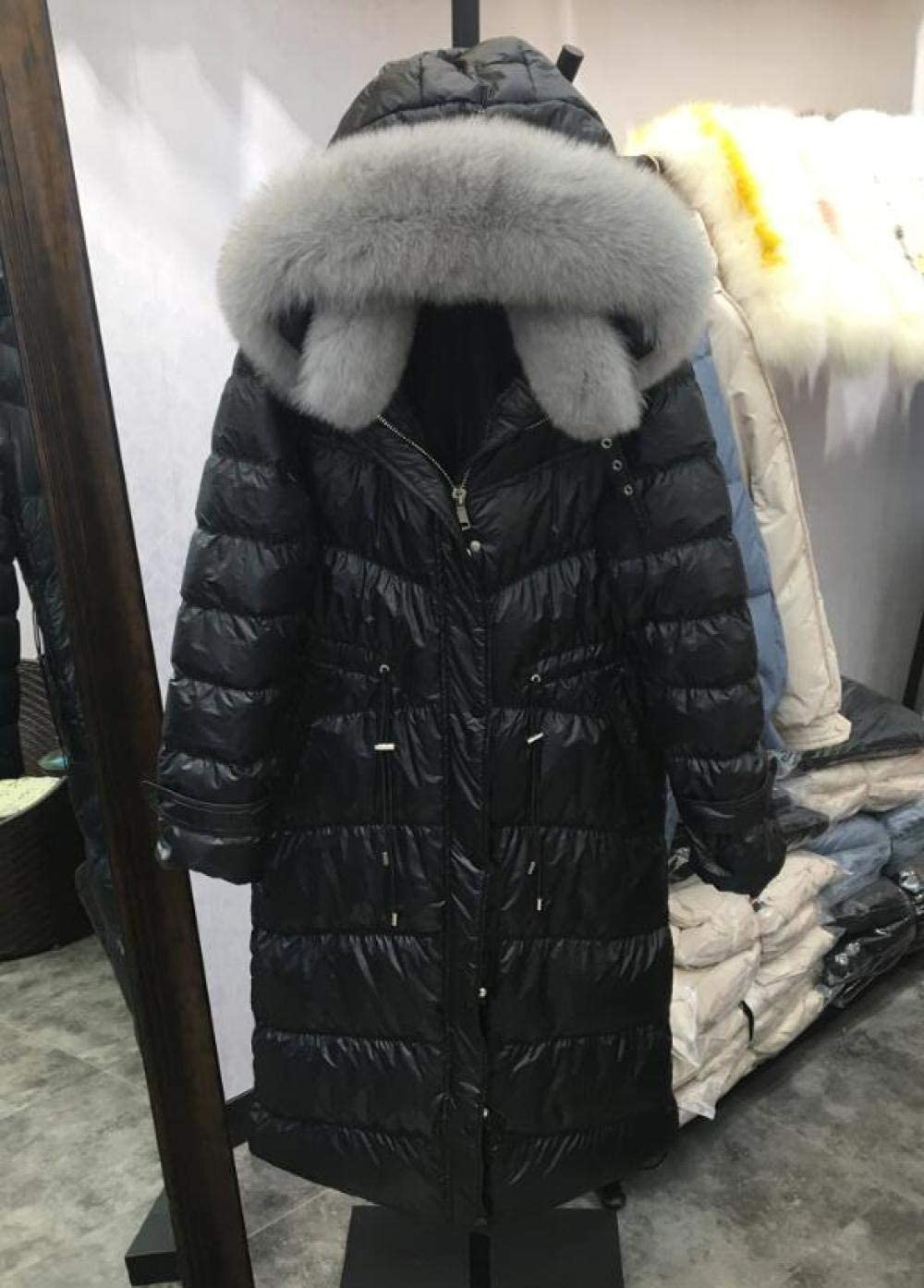 Happy-W Large Real Fox Beauty products Fur Collar Winter Jacket Women Indianapolis Mall Femal 2019