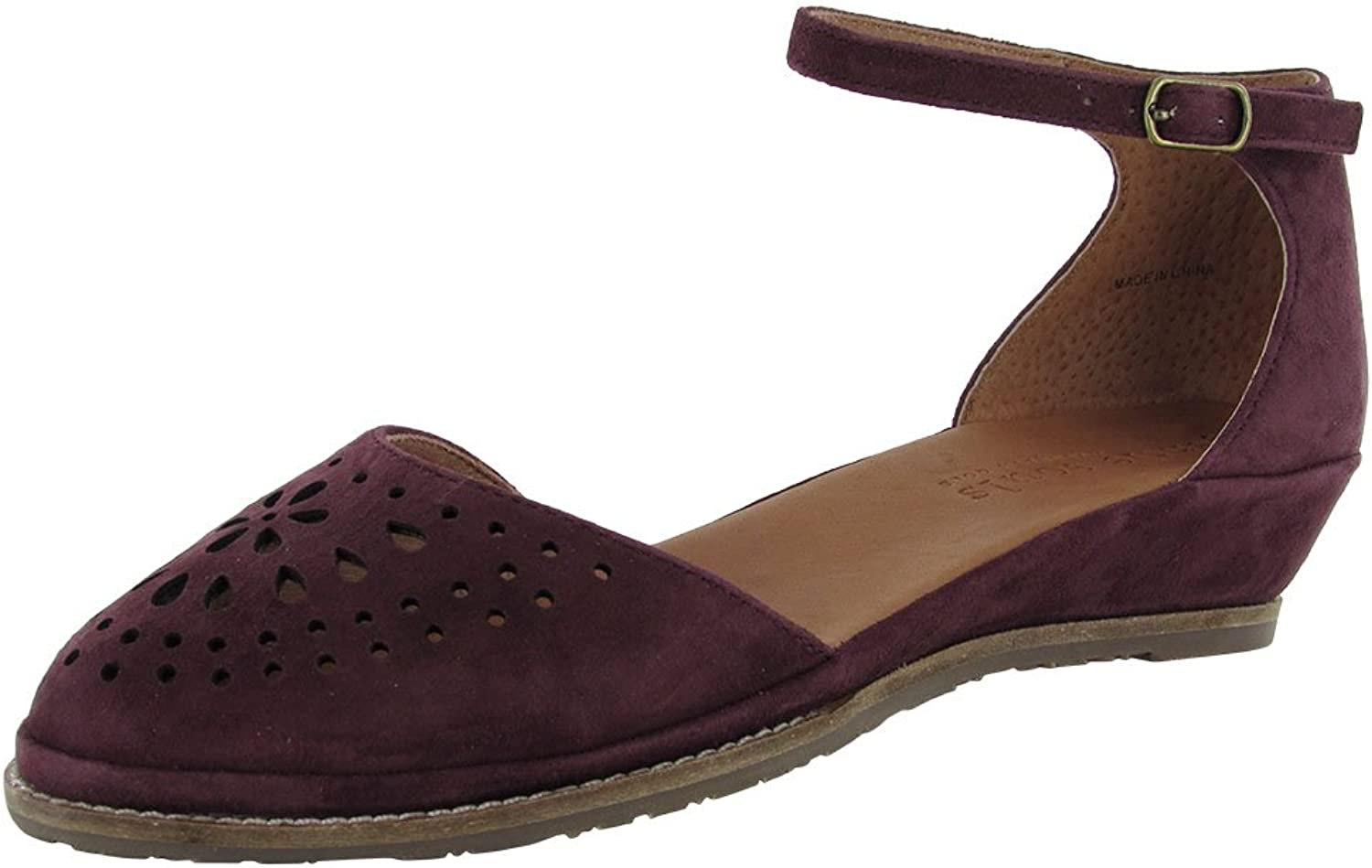 Gentle Souls Womens Naomi Suede Wedge Sandal shoes