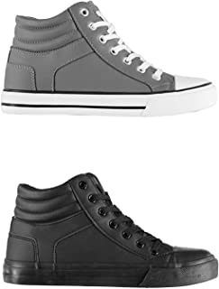 Official Brand Lee Cooper Joel Hi Top Trainers Juniors Boys Shoes Sneakers Kids Footwear