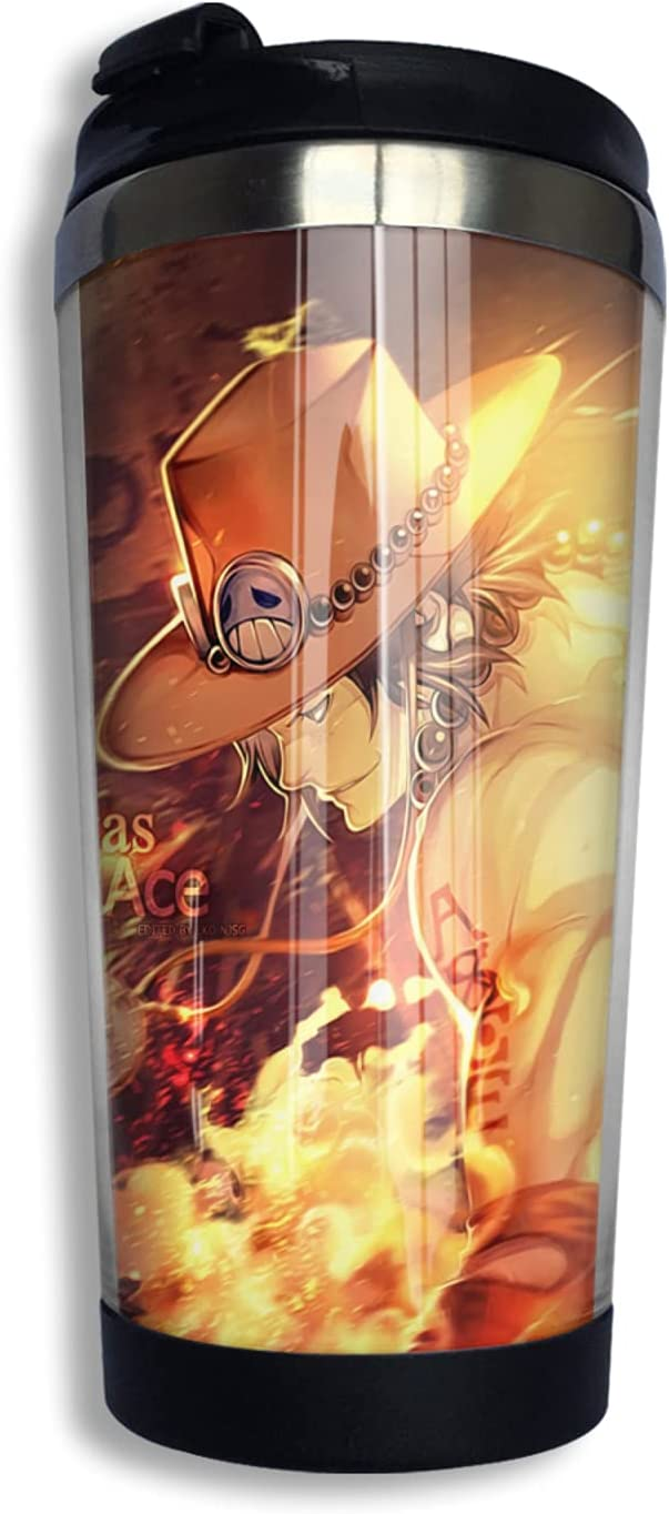 One Piece Portgas·D· Ace 1 year warranty Selling and selling Anime Cup Print 3d Coffee Thermos