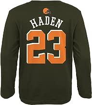 Outerstuff Joe Haden NFL Cleveland Browns Mainliner Long Sleeve Jersey T-Shirt Youth S-XL
