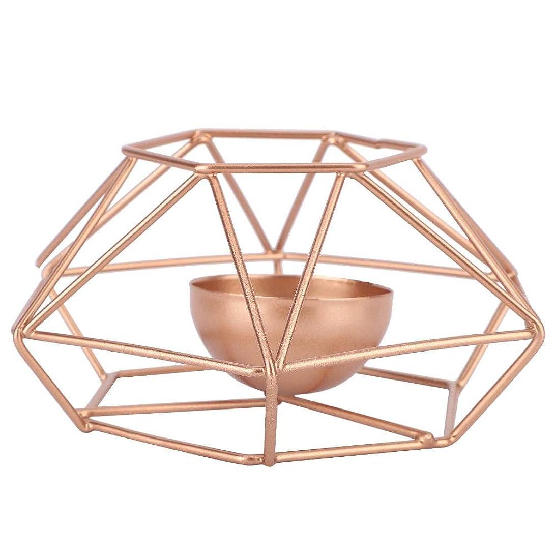 ゆでる収容する大胆不敵鉄の燭台、現代スタイルの幾何学的な燭台スタンド鉄の蝋燭ホールダー金家の装飾飾り