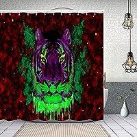 シャワーカーテントリッピーな壁紙Tumblr 防水 目隠し 速乾 高級 ポリエステル生地 遮像 浴室 バスカーテン お風呂カーテン 間仕切りリング付のシャワーカーテン 180 x 180cm