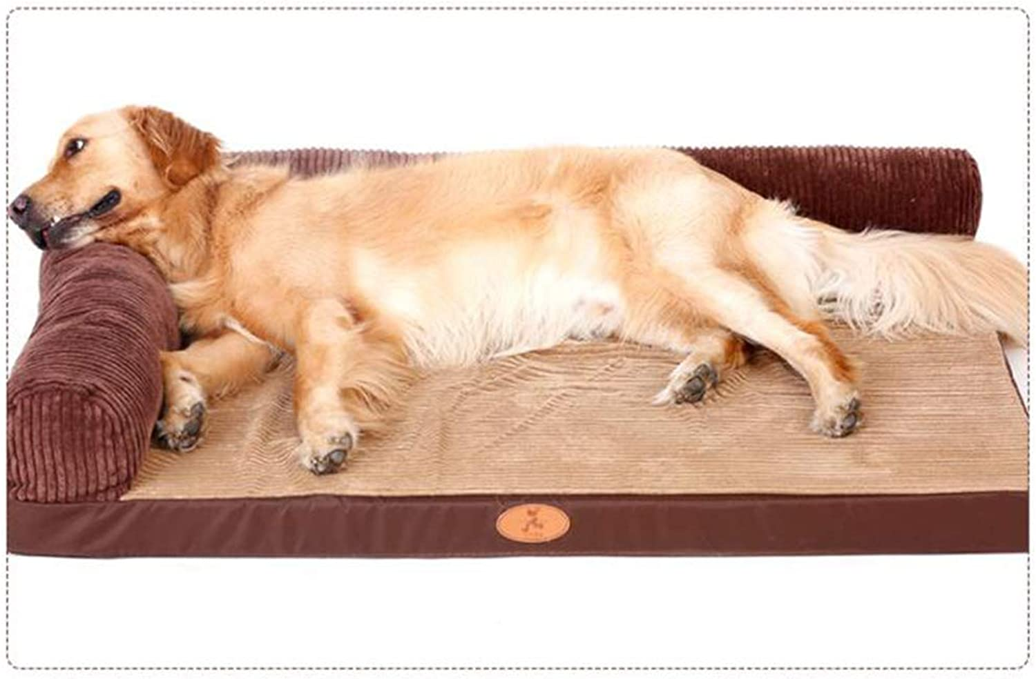 JiuErDP Kennel mat winter dog bed Labrador removable and washable medium large dog pet nest golden hair small warm (Size   S)