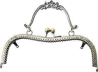 20.5cm Vintage Metal Frame Kiss Clasp with Handle for Handle Bag Purse Handbag Bronze