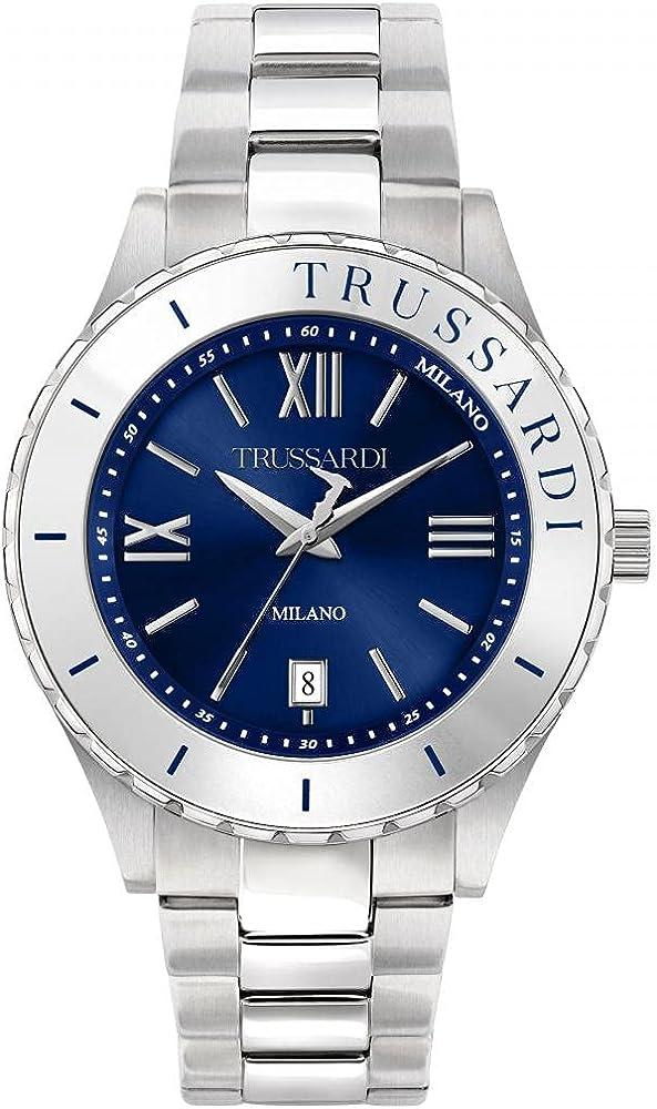 Trussardi orologio per uomo in acciaio inossidabile 8033288899501