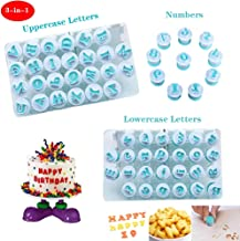 Nuoda 26 Pack DIY Letters Numbers Cake Mould Fondant Sugar Craft Cookies Plunger Cutter Mold Decorating Tools