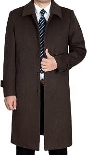 Men's Wool Single Breasted Winter Trench Jacket Woolen Pea Coat