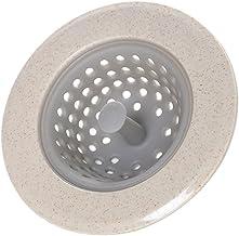 Homyl afvoerzeef afvoerzeef gootsteen zeef haarzeef filter voor wastafel beige