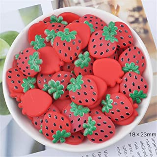 JAGETRADE 3pcs Rubber Fruit Slices Slime Charms Slime Supplies For Fluffy Slime DIY Clear Slime Accessories Putty Clay Toy...