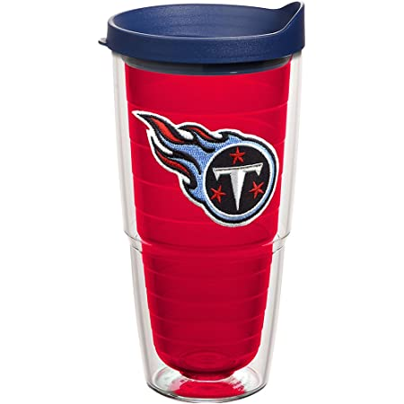 Tervis NFL Tennessee Titans Made in USA Double Walled Insulated Tumbler, 24oz, Primary Logo - Red Inner