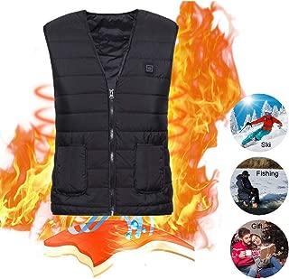 Vivibel Beheizte Weste Intelligentes Elektrische Beheizte Jacke USB-Lade Heizweste f/ür Herren Damen Warme Heat Jacke mit 3 Fakultativ Temperatur f/ür Outdoor-Aktivit/äten Wandern Jagd Motorrad Camp