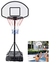 Hommoo Poolside Basketball Hoop Swimming Pool Kids Junior Adjustable Height Portable Basketball System Backboard Stand Pool Toy (0.9-1.2m)