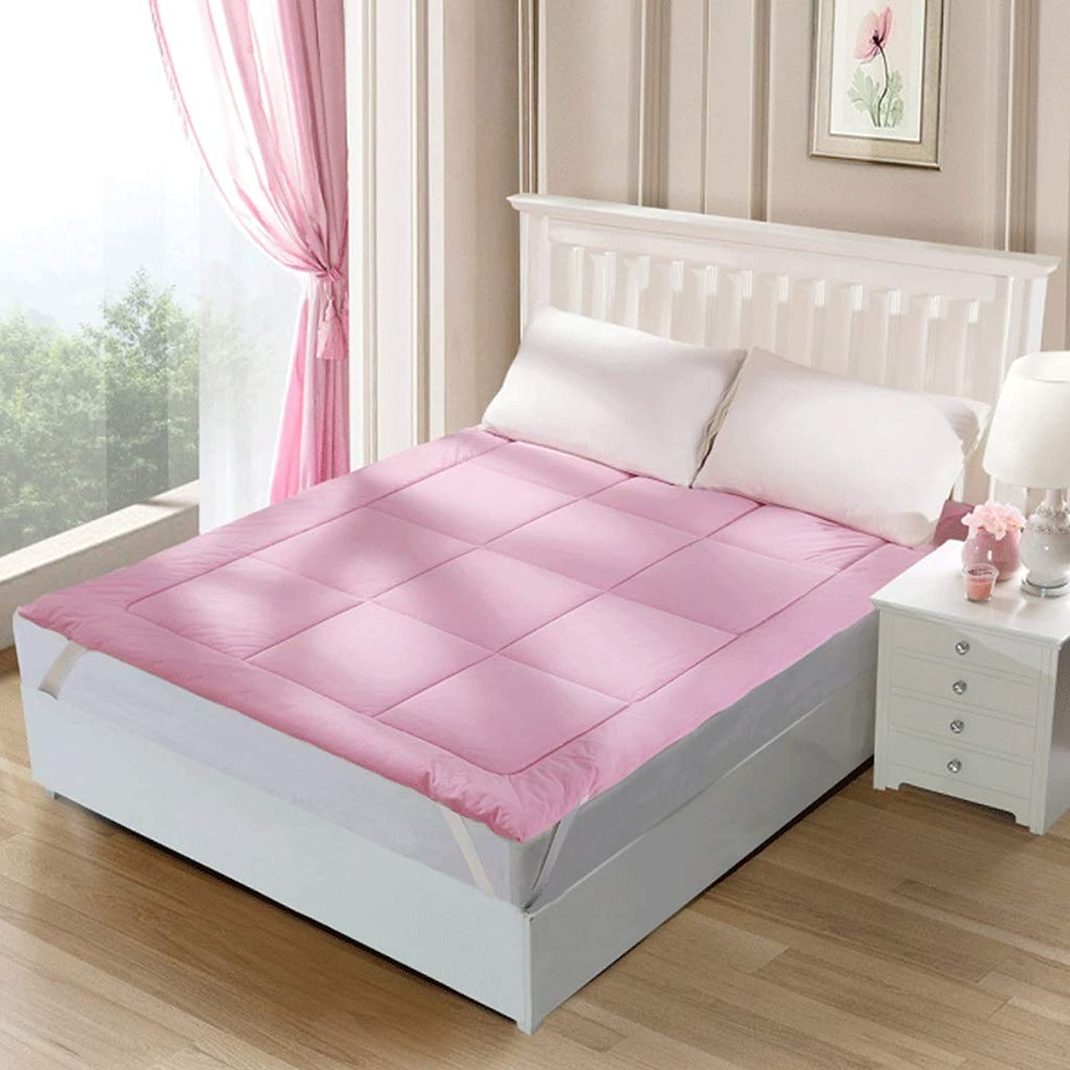 Tatami Mattress On Both Sides with Soft Foldable Double Bedroom Sleeping Mat Single Dormitory Mat +A (color   Pink, Size   120X200cm)