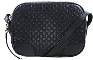 07246e940186 Gucci Bree Guccissima Top Handle Crossbody Leather Bag Purse New Chocolate  Brown