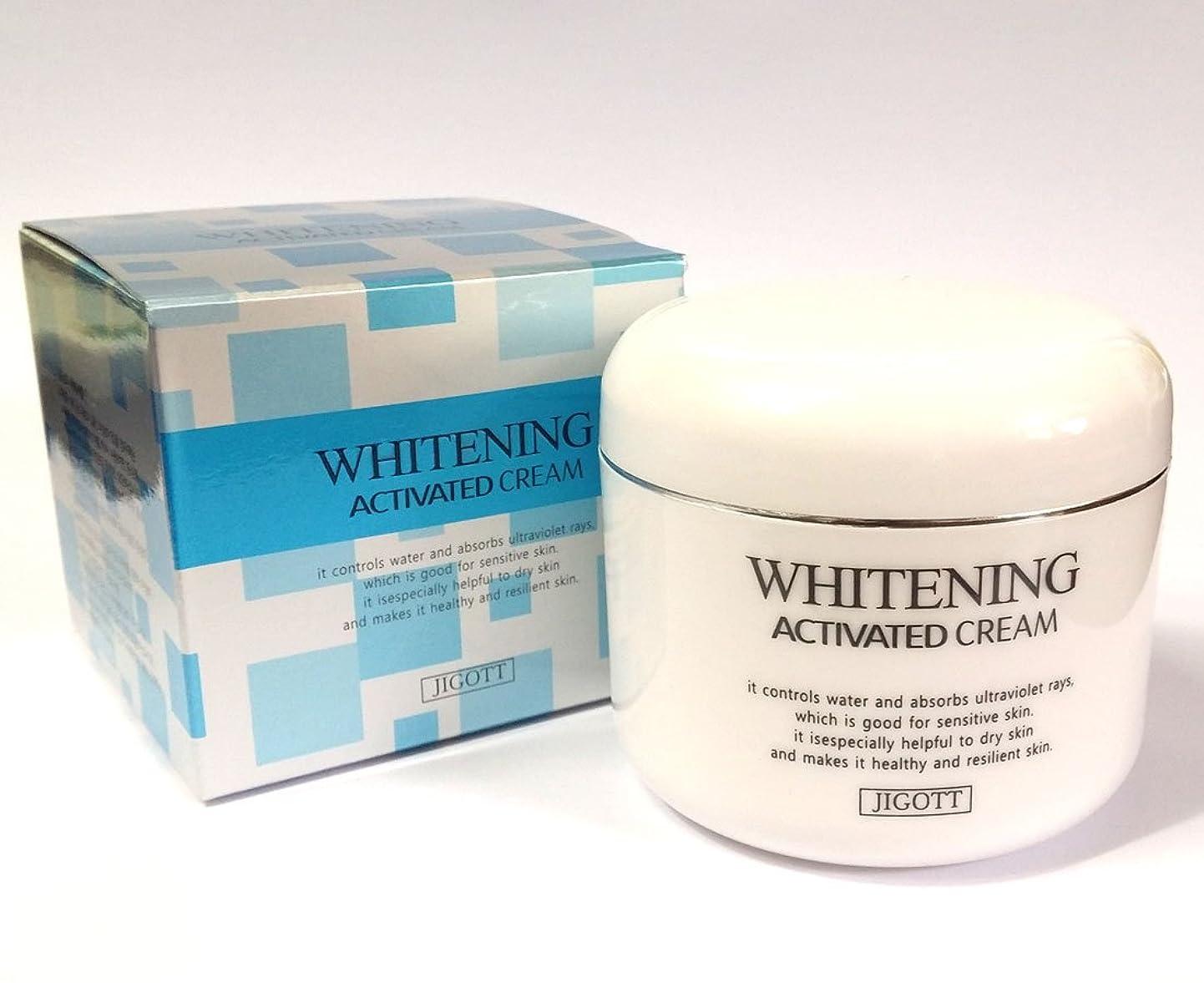 鍔さらに愛国的な[JIGOTT] ホワイトニング活性化クリーム100ml/Whitening Activated Cream 100ml/潤い、滑らか、明るい/韓国の化粧品/moisture,smooth,bright/Korean Cosmetics (3EA) [並行輸入品]