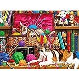 5DDiamondPainting Bola de hilo de gato animal 5D Kit de pintura de diamante,Bordado de punto de cruz de diamantes de imitación Artesanía30x40 cm(Sin marco)