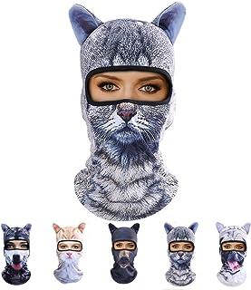 ماسک گربه Outgeek ، زنان مردان Balaclava تابستان کلاه صورت کامل حیوانات گوش کلاه ورزشی کلاه ماهیگیری