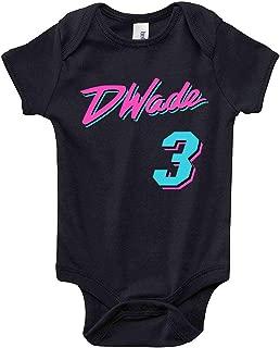 Black Miami Wade Vice City Baby 1 Piece