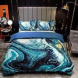 Bedclothes-Blanket Juego de sabanas Cama 90 Juveniles,Impresión Digital 3D Conjunto de Tres Piezas de Almohada Mangas de Cama-B_1 Conjunto de Funda de Almohada de 175 * 200 cm 2