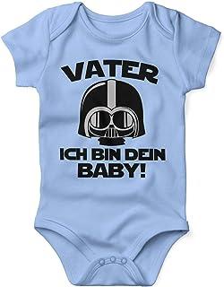 Mikalino Babybody mit Spruch für Jungen Mädchen Unisex kurzarm Vater - ich bin Dein Baby! | handbedruckt in Deutschland | Handmade with love