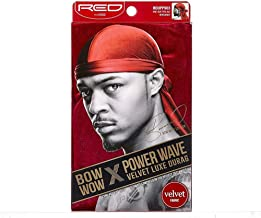 Red by Kiss Power Wave Velvet Luxe Durag, Burgundy
