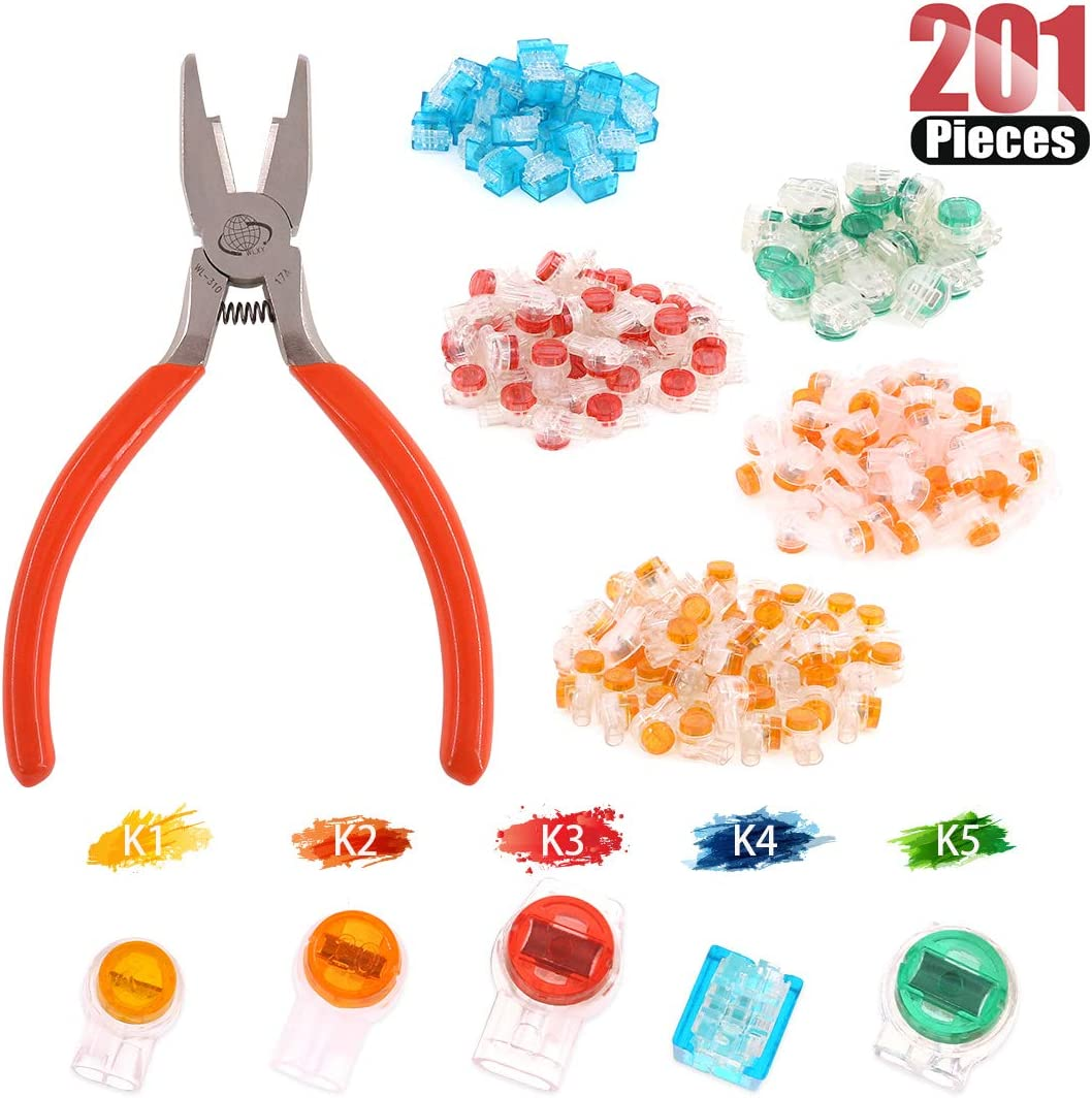 Hilitchi 200 Pcs Telephone Wire Over item handling ☆ Conne Splice Connector Butt Sale
