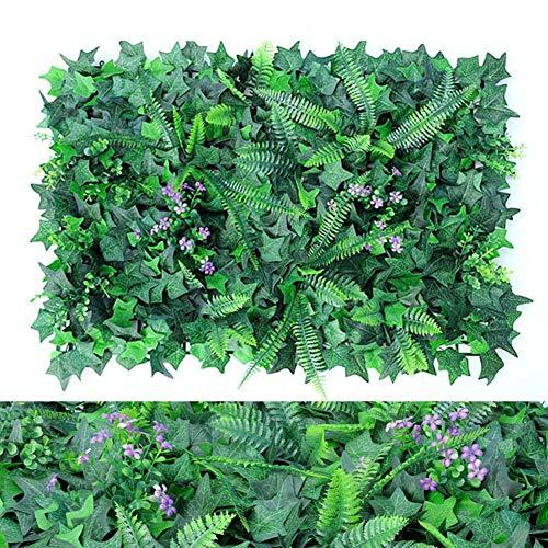 Bloomma-123 Künstliche Buchsbaumplatten Topiary Hedge Plant, Privacy Hedge Screen UV-geschützt Geeignet für Outdoor, Indoor, Garten, Zaun, Garten und Dekor