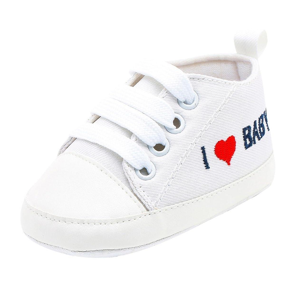 シュリンク正しい予定[Yochyan_子供靴] ベビーシューズ 可愛い 女の子 男の子 幼児シューズ 運動靴 スニーカー プリント レースアップ スポツー 柔らかい コットン 歩く練習 滑り止め カジュアル ファッション おしゃれ 日常着 11 12 13