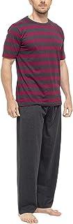 Mens Tom Franks Short Sleeve Top & Trouser Cotton Pyjama Sleepwear Nightwear Set HT332A