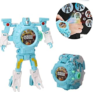 Transform Toys Robot Watch, 3 In 1 Projection Kids Digital Watch Deformation Bots Toys,Creative Educational Learning Xmas ...
