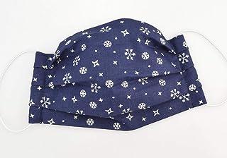 Maske - Schneeflocken Dunkelblau - Weihnachts-Edition - Baumwolle