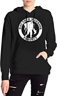 Wounded Warrior Project Women's Long Sleeve Hoodie Sweater Pullover Hoodie