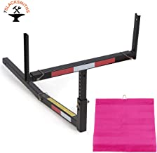 7BLACKSMITH Adjustable Steel Pick Up Truck Bed Hitch Extender Extension Rack for Boat Lumber Long Loads Canoe Ladder