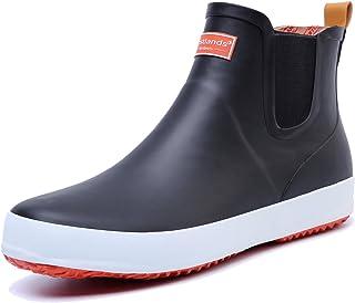 [LOSTLANDS] レインブーツ レインシューズ ラバーブーツ メンズ ショート ビジネス 雨靴 防水 耐滑 雨 雪 梅雨対策 軽量 おしゃれ カジュアル