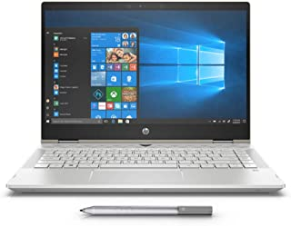 HP Pavilion x360 14-cd0003ne, 2 in 1 Laptop, Intel Core i7-8550U, 14 Inch, 1TB HDD + 128GB SSD, 12GB RAM, Intel UHD Graphics, Win 10, Eng-Ara KB, Silver