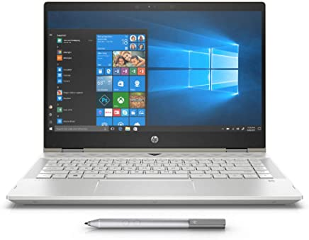 HP Pavilion x360 14-cd0003ne, 2 in 1 Laptop, Intel Core i7-8550U, 14 Inch, 1TB HDD + 128GB SSD, 12GB RAM, Intel UHD Graphics, Win 10, Eng-Ara KB, Silver