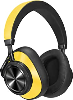 Bluedio T6 (Turbine) Active Noise Canceling Bluetooth Headphones Stereo Wireless Over-ear Headphones Built in Mic, Cloud Service ,25 Hours Playtime with Comfortable Earpads (Yellow)
