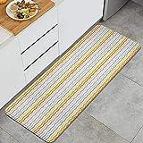PATINISA Alfombra de Cocina,Estampado de Espiga de Hipster geométrico,Antideslizante Estera Cocina Lavable Alfombrillas Absorbentes Pasillo alfombras,120x45cm