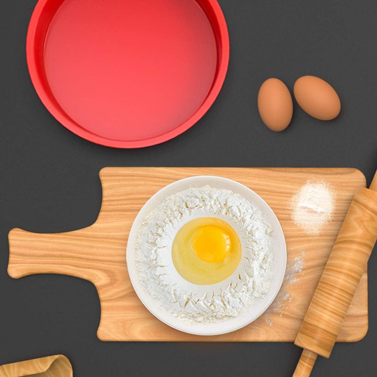 Pour g/âteaux /à /étages cheesecake Antiadh/ésifs et /à d/égagement rapide arc-en-ciel et mousseline de soie 24 cm Lot de 2 moules /à g/âteau ronds en silicone pour la cuisson de g/âteaux Silivo