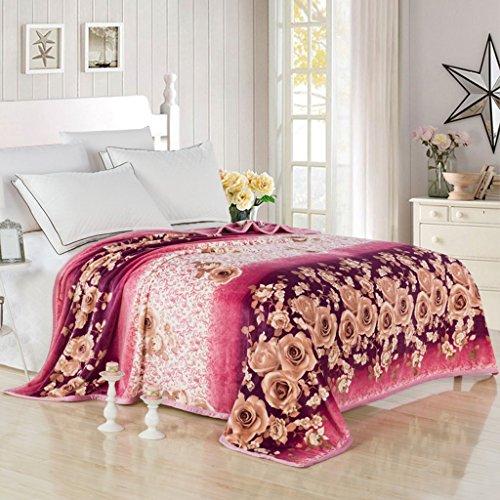 Wddwarmhome Hiver Couverture Chaude Plante Motif Floral Salon avec canapé Couverture Couverture de lit Chambre Douce et Confortable Couvertures (Taille : 180 * 200cm)