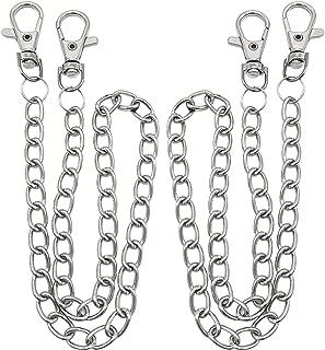 Double crochet en acier inoxydable Pantalon Chaîne Biker Rock Taille Key Chain