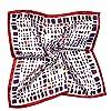 YiyiLai おしゃれ ネッカチーフ フェイクシルク オフィススカーフ 正方形 プリント フォーマル スカーフ 小さめ 制服用 タイプQ
