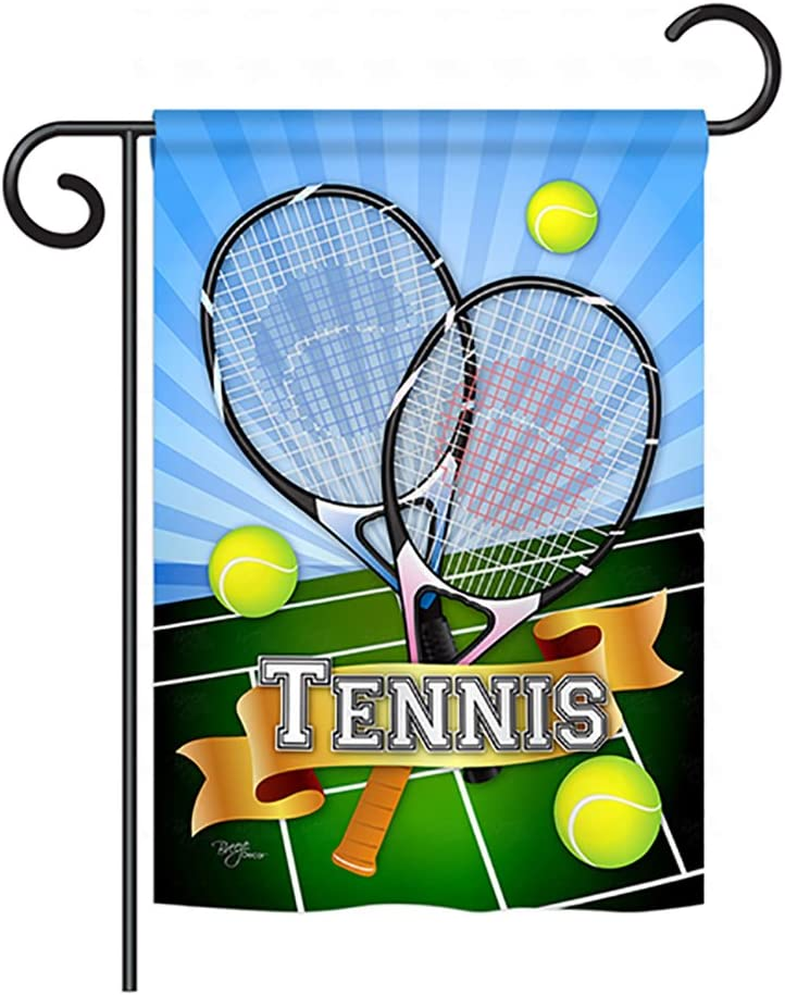 Breeze Decor G159002-BO Tennis Interests Sports Decorative Vertical Garden Flag, 13